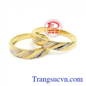 Nhẫn cưới chung thủy vàng 10k