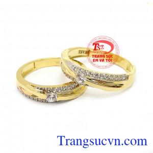 Nhẫn cưới tinh tế vàng 10k