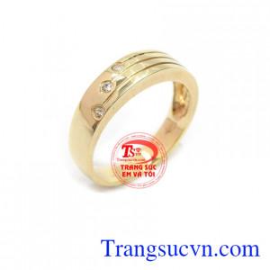 Nhẫn nam vàng 10k tinh tế