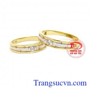 Nhẫn cưới hạnh phúc trăm năm