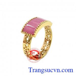 Nhẫn ruby kim tiền thịnh vượng