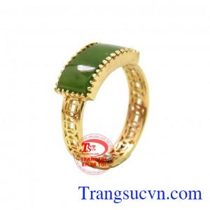 Nhẫn cẩm thạch kim tiền tài lộc