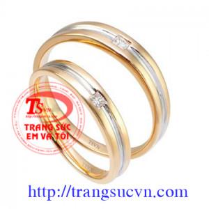 Nhẫn cưới vàng 14k