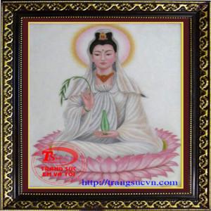 Phật Quan Âm Tranh Đá Quý