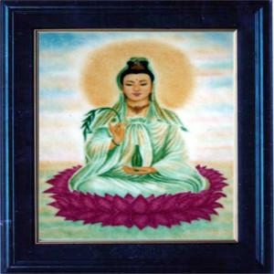Phật Bồ Tát Tranh Đá Quý