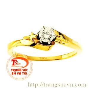 Nhẫn kim cương công giáo
