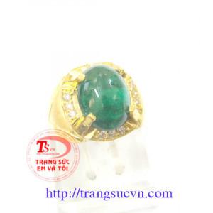 Nhẫn Nam Vàng Emerald