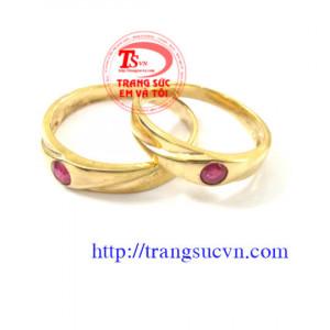 Nhẫn cưới hồng ngọc