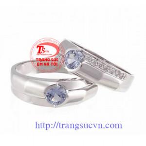 Nhẫn cưới đá quý