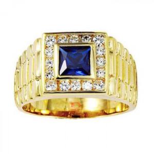 Nhẫn nam sapphire xanh
