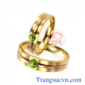 Nhẫn cưới Peridot đẹp