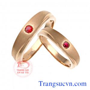 Cặp nhẫn cưới ruby