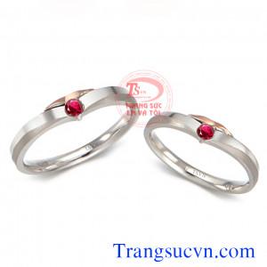 Nhẫn ruby vàng trắng