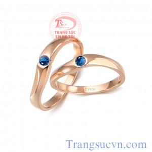 Nhẫn đá sapphire xanh