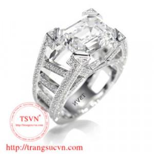 Nhẫn nam gắn kim cương