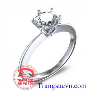 Nhẫn nữ vàng trắng kim cương
