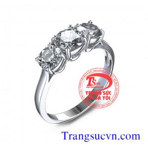 Nhẫn kim cương thiên nhiên