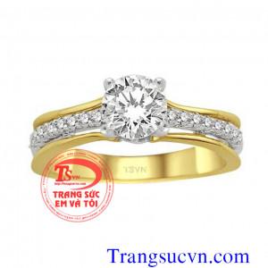 Nhẫn kim cương điệu đẹp