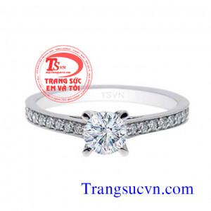 Nhẫn nữ kim cương vàng trắng