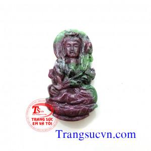 Phật Bà quan âm đá ruby xanh