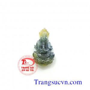 Phật quan âm Saphire vàng xanh