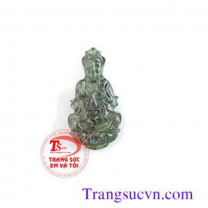 Phật Quan âm đá quý saphir