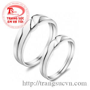 Nhẫn cưới vàng trắng mẫu mới năm nay