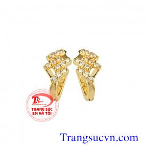 Bông tay kim cương thiên nhiên