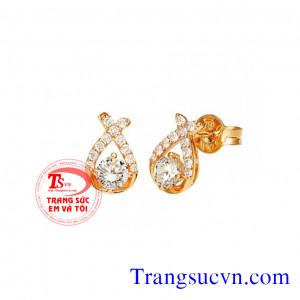 Hoa tai đá kim cương thiên nhiên