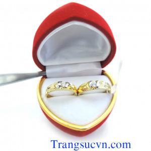 Nhẫn cưới vàng tây 10k