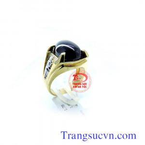 Nhẫn nam đá màu đen