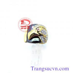Nhẫn nam vàng đầu đại bàng