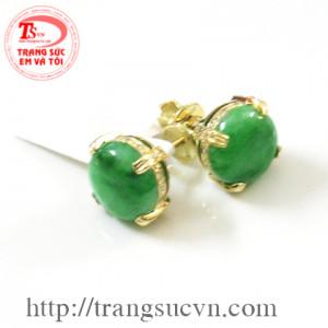 Bông tai cẩm thạch(jadeite)