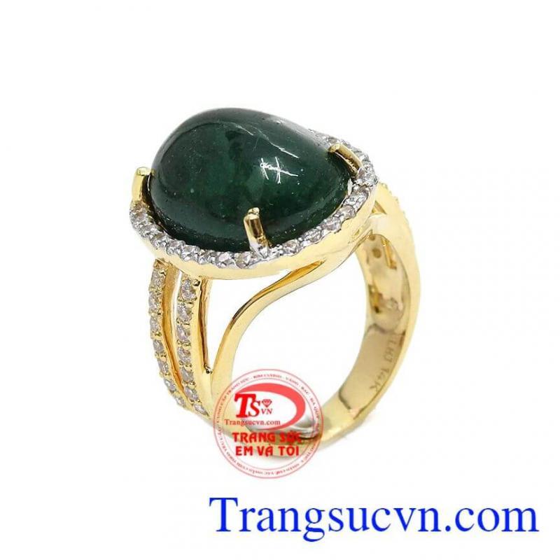 Nhẫn nữ emerald thiên nhiên