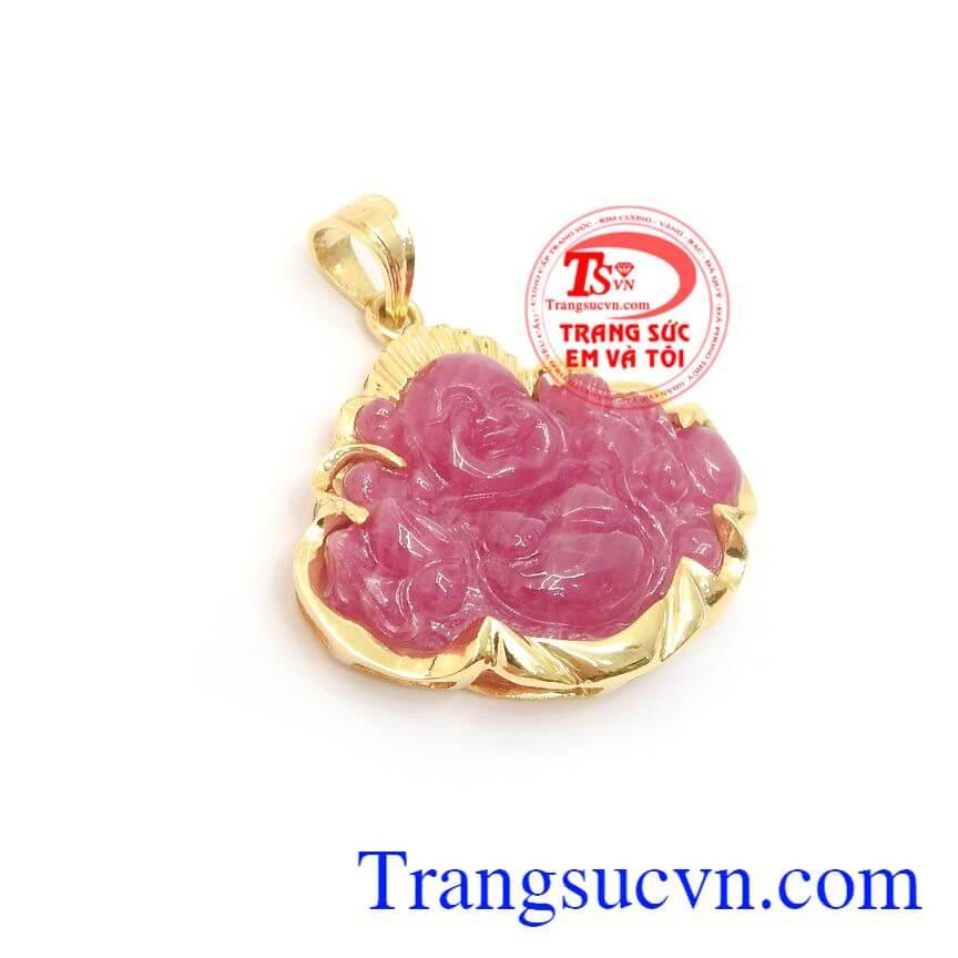 Mặt Phật Di Lặc Ruby Bình An kiểu dáng đẹp, chất lượng cao