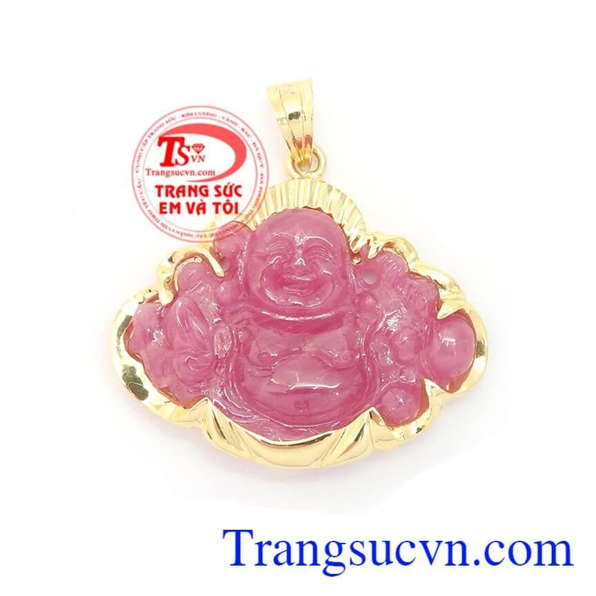 Mặt Phật Di Lặc Ruby Bình An