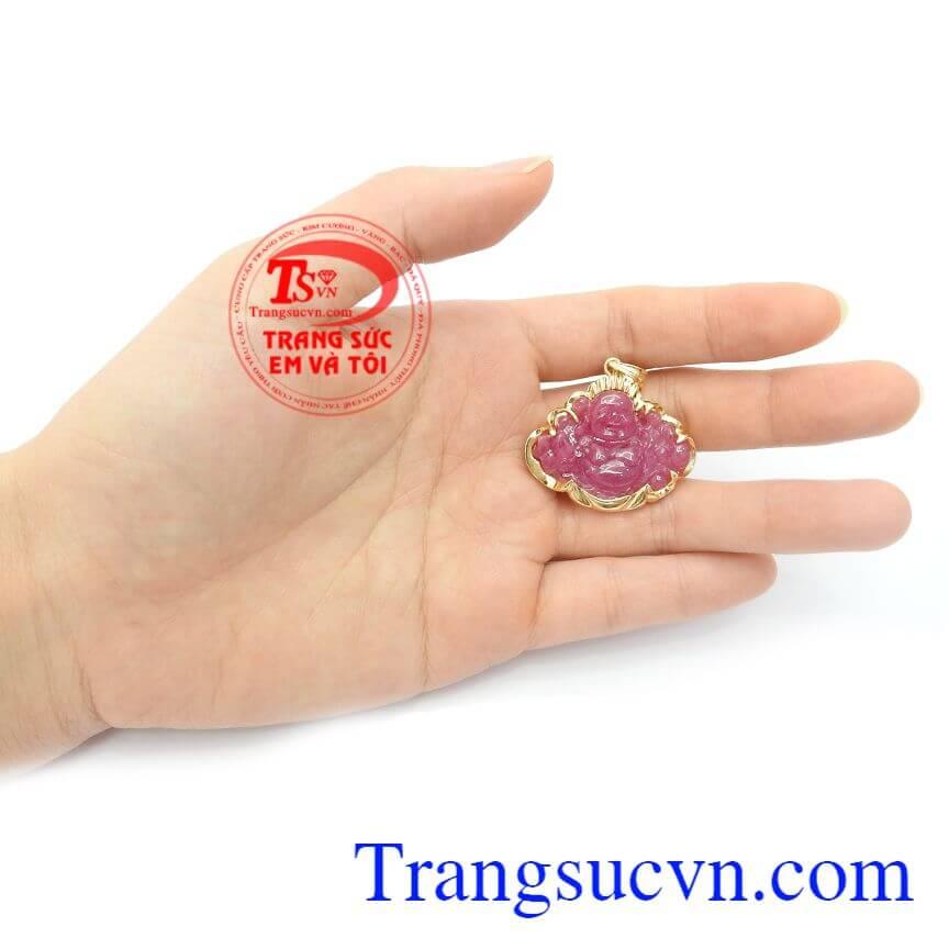 Mặt Phật Di Lặc Ruby Bình An đeo hợp phong thủy