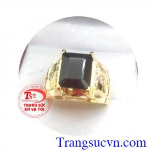 Nhẫn nam Granat vàng 14k
