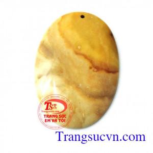 Mặt canxedon oval vàng