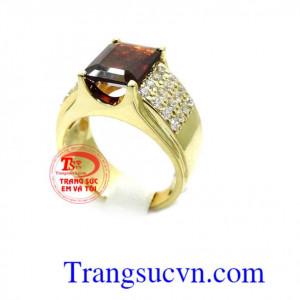 Nhẫn nam vàng mệnh Hỏa, Thổ