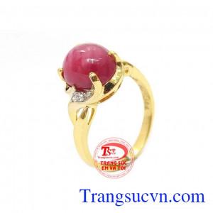 Nhẫn nữ ruby sao thiên nhiên đáng yêu