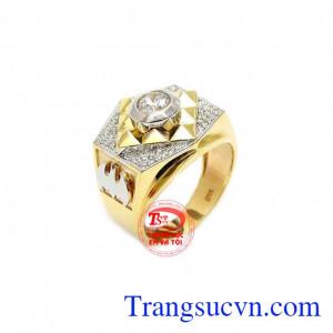 Nhẫn nam đẹp vàng 10k