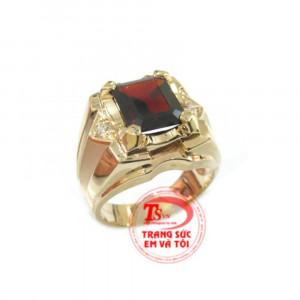 Ring Natural Garnet