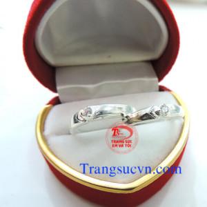 Nhẫn đôi đẹp bạc ta