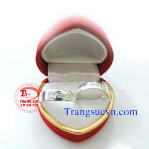 Nhẫn đôi bạc nguyên chất