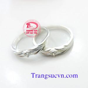 Nhẫn đôi bạc nhẫn cặp
