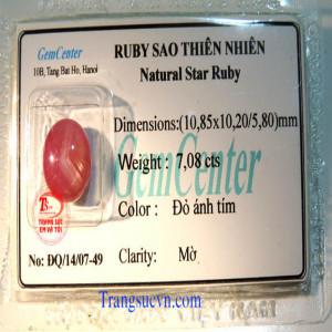 Ruby sao thiên nhiên