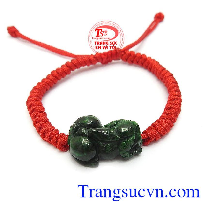 Dây tết tì hưu ngọc cẩm thạch may mắn tết dây đỏ đẹp, cá tính