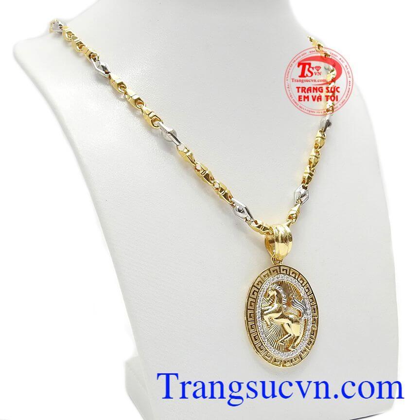 Dây chuyền vàng sang trọng giúp phái mạnh thêm lịch lãm