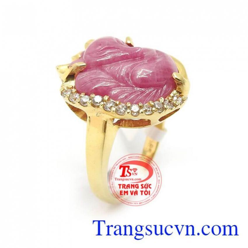 Nhẫn Nữ Hồ Ly Ruby Phú quý